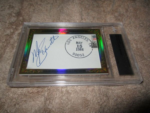 Mike Schmidt 2015 Leaf Masterpiece Cut Signature certified autograph card 1/1 JSA