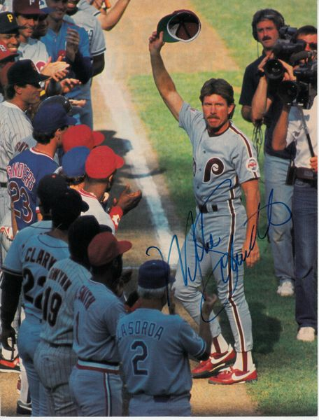 Mike Schmidt autographed 1989 All-Star Game full page magazine photo