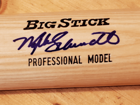 Mike Schmidt autographed Rawlings Adirondack game model bat