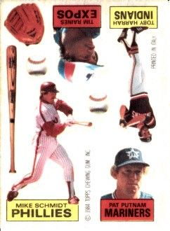 Mike Schmidt & Tim Raines 1984 Topps Tattoos