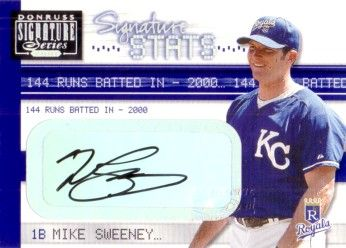 Mike Sweeney certified autograph Kansas City Royals card #69/144