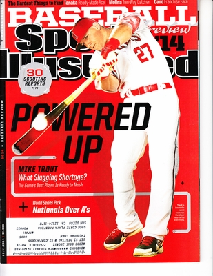 Mike Trout Angels 2014 Sports Illustrated MLB Preview issue magazine (regional cover)