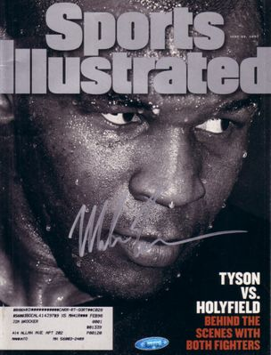 Mike Tyson autographed 1997 Sports Illustrated boxing magazine (TriStar)