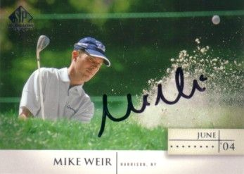 Mike Weir autographed 2004 SP Signature golf card
