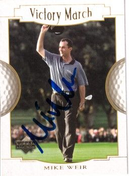 Mike Weir autographed 2001 Upper Deck golf card