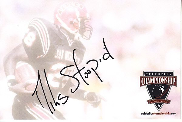 Miles Doughty autographed 4x6 signature card (Slightly Stoopid)