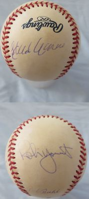1957 Milwaukee Braves & Robin Yount autographed MLB baseball (Hank Aaron Warren Spahn)