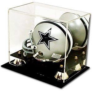 Mini helmet deluxe acrylic display case