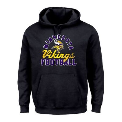 Minnesota Vikings Majestic black heavyweight hoodie or hooded sweatshirt BRAND NEW WITH TAGS