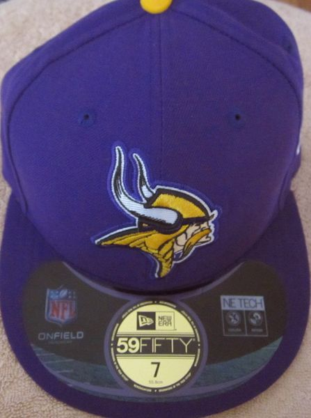 Minnesota Vikings New Era authentic On Field purple cap or hat (fitted size 7)