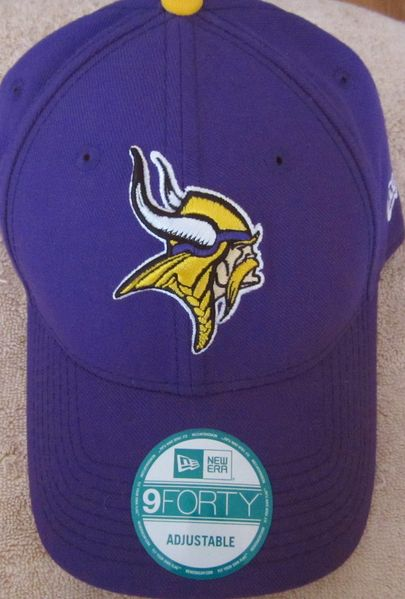 Minnesota Vikings New Era purple cap or hat (adjustable size)