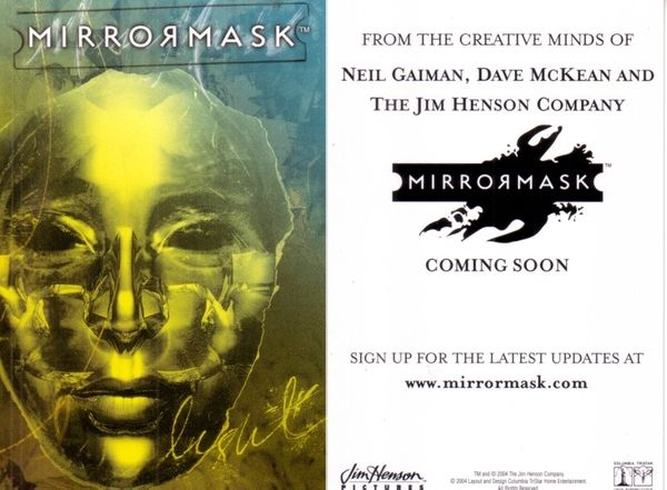 MirrorMask movie 2004 4x6 promo card