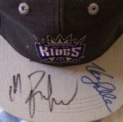 Mitch Richmond & LaSalle Thompson autographed Sacramento Kings cap or hat