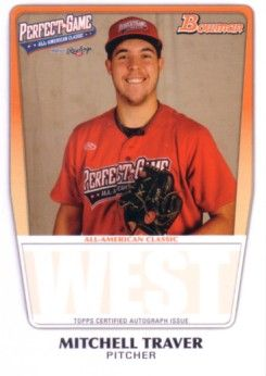 Mitchell Traver 2011 Perfect Game Topps Bowman Rookie Card (AFLAC)