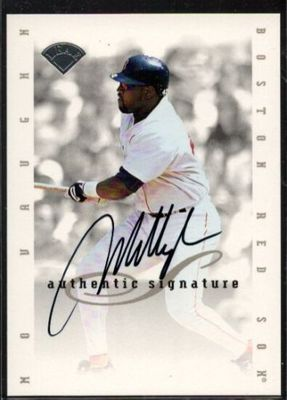 Mo Vaughn Boston Red Sox 1996 Leaf certified autograph card