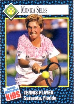 Monica Seles 1992 Sports Illustrated for Kids Rookie Card