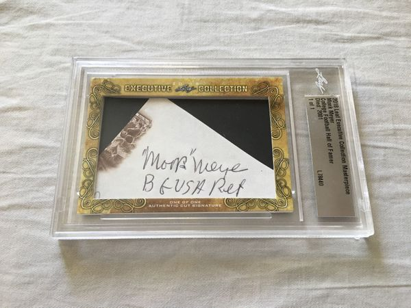 Monk Meyer 2018 Leaf Masterpiece Cut Signature certified autograph card 1/1 JSA Army