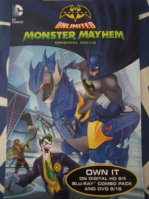 Batman Unlimited Monster Mayhem movie 2015 San Diego Comic-Con promo poster