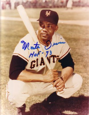 Monte Irvin autographed New York Giants 8x10 photo inscribed HOF 73