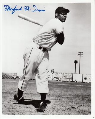 Monte Irvin autographed New York Giants 8x10 photo (full name)