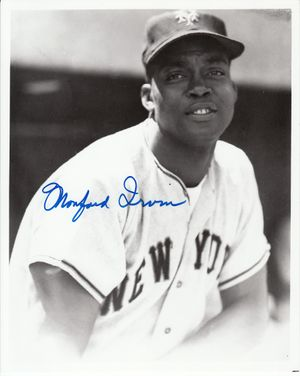 Monte Irvin autographed New York Giants 8x10 portrait photo