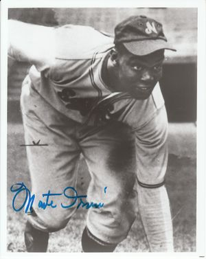 Monte Irvin autographed Newark Eagles 8x10 black & white photo