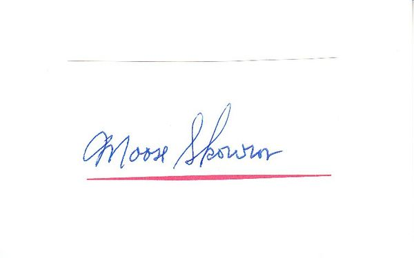 Moose Skowron autograph or cut signature mounted on 3x5 index card
