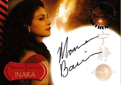 Morena Baccarin certified autograph Serenity (Firefly) 2005 Inkworks card A6