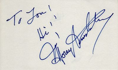Morey Amsterdam autographed index card