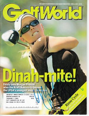 Morgan Pressel autographed 2007 Kraft Nabisco Championship Golf World magazine