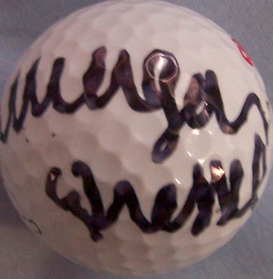 Morgan Pressel autographed golf ball