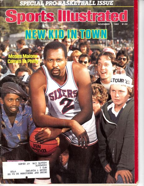 Moses Malone Philadelphia 76ers 1982 Sports Illustrated magazine
