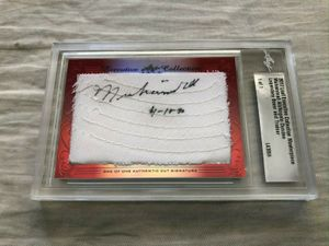Muhammad Ali and Angelo Dundee 2017 Leaf Masterpiece Cut Signature certified autograph card 1/1 JSA