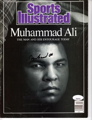 Muhammad Ali autographed 1988 Sports Illustrated magazine (JSA)