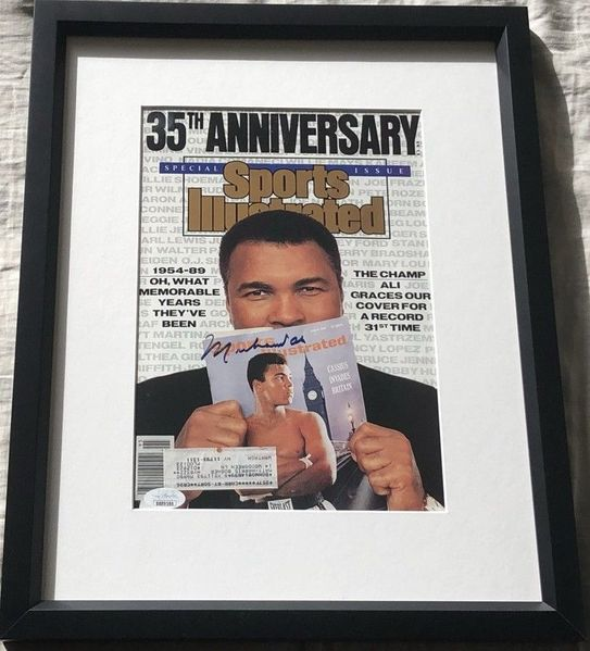 Muhammad Ali autographed 1989 Sports Illustrated magazine cover matted and framed (JSA)