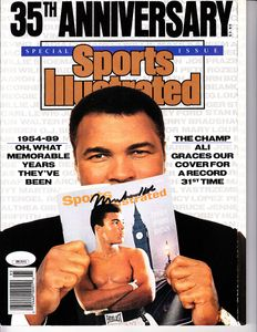 Muhammad Ali autographed 1989 Sports Illustrated 35th Anniversary magazine (JSA)