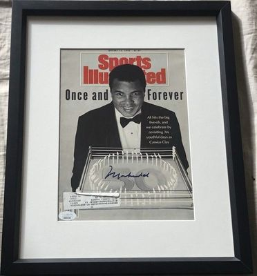 Muhammad Ali autographed 1992 Sports Illustrated cover matted and framed (JSA)