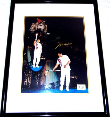 Muhammad Ali autographed 1996 Olympic Torch 16x20 poster size photo matted and framed ltd. edit. 1996