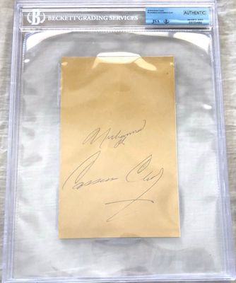 Muhammad Ali and Cassius Clay double autographed book page JSA LOA BGS slabbed RARE