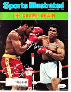 Muhammad Ali and Leon Spinks autographed 1978 Sports Illustrated (JSA)