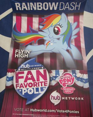 My Little Pony Rainbow Dash 2013 Comic-Con poster