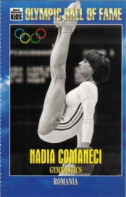 Nadia Comaneci Olympic Hall of Fame Sports Illustrated for Kids card