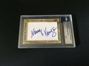 Nancy Kerrigan 2018 Leaf Masterpiece Cut Signature certified autograph card 1/1 JSA