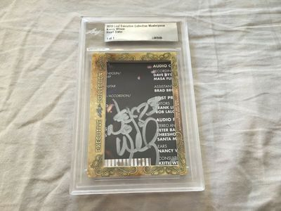 Nancy Wilson 2018 Leaf Masterpiece Cut Signature certified autograph card 1/1 JSA Heart