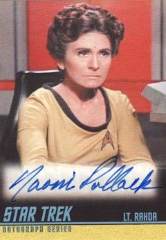 Naomi Pollack Star Trek Original Series certified autograph card