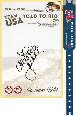 Nastia Liukin autographed 2015 2016 Team USA Road to Rio U.S. Olympic Team card
