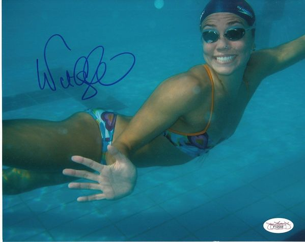 Natalie Coughlin autographed U.S. Olympic Team 8x10 swimming photo (JSA)