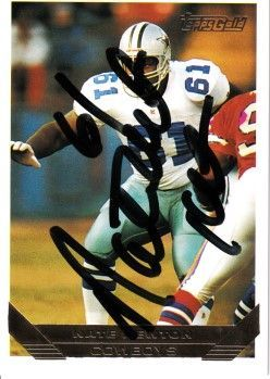 Nate Newton autographed Dallas Cowboys 1993 Topps Gold card