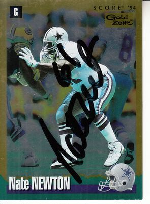Nate Newton autographed Dallas Cowboys 1994 Score Gold Zone card