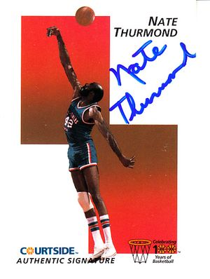 Nate Thurmond certified autograph 1992 Courtside Flashback card